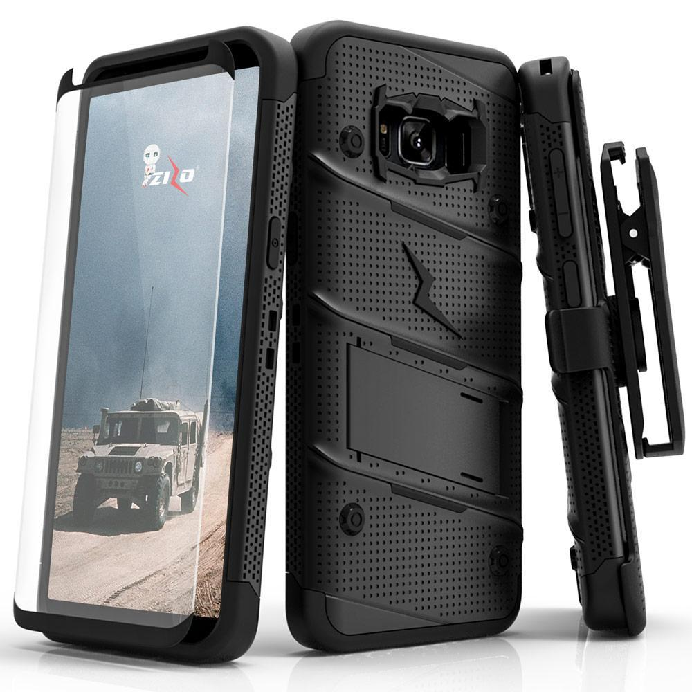 BLACK ZIZO BOLT CASE S7 FOR S7 EDGE