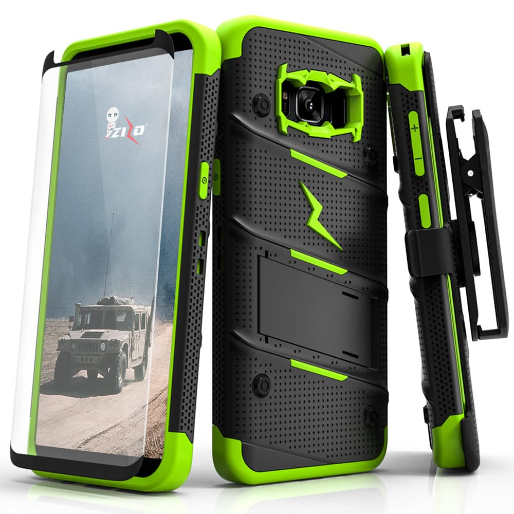 NEON GREEN ZIZO BOLT CASE S7 EDGE