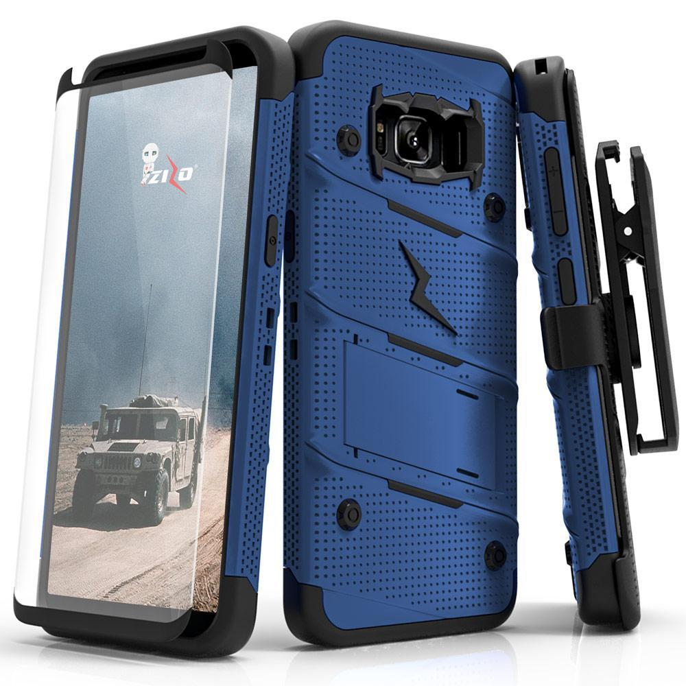 BLUE & BLACK ZIZO BOLT CASE S7 EDGE