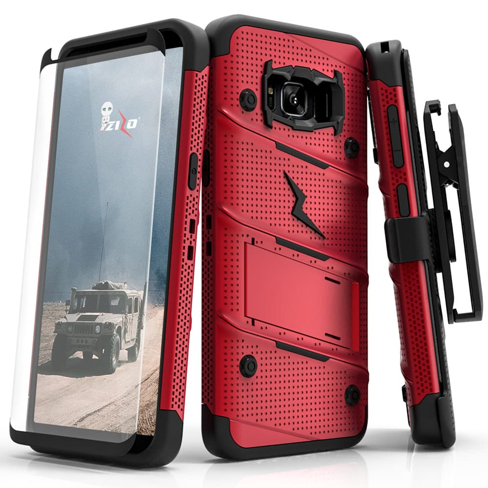 RED & BLACK ZIZO BOLT CASE S7 EDGE