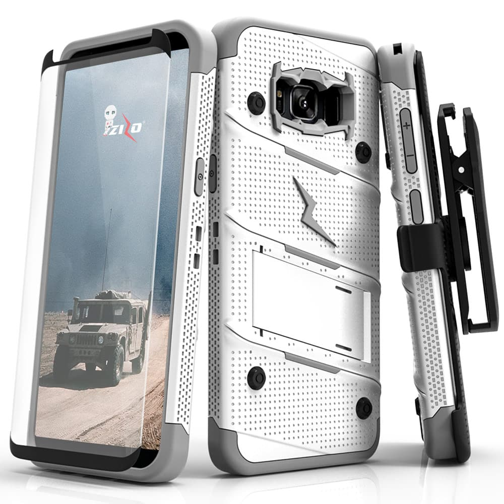 WHITE GRAY ZIZO BOLT CASE S7 EDGE