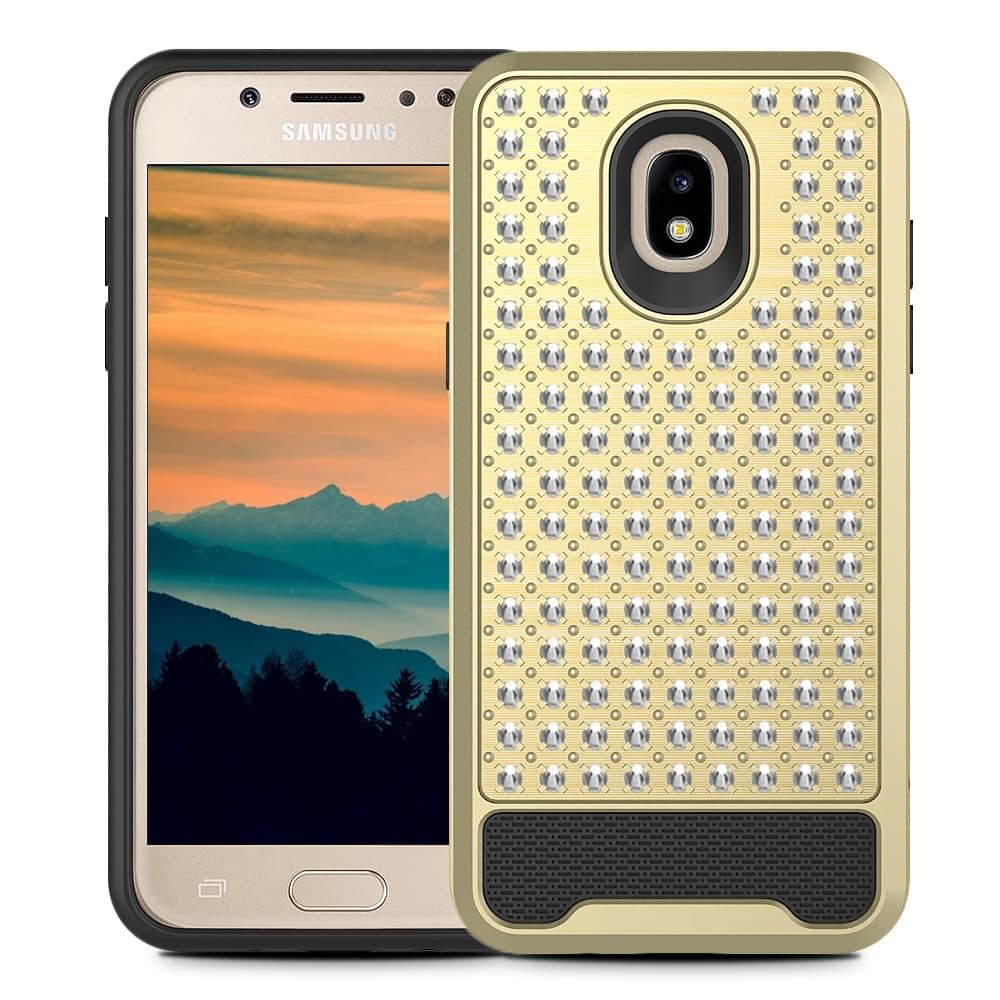 GOLD GALAXY J7 2018 CASE