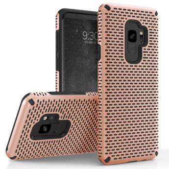 ROSE GOLD AND BLACK GALAXY S9 CASE