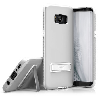GALAXY S8 PLUS SILVER METALLIC CASE