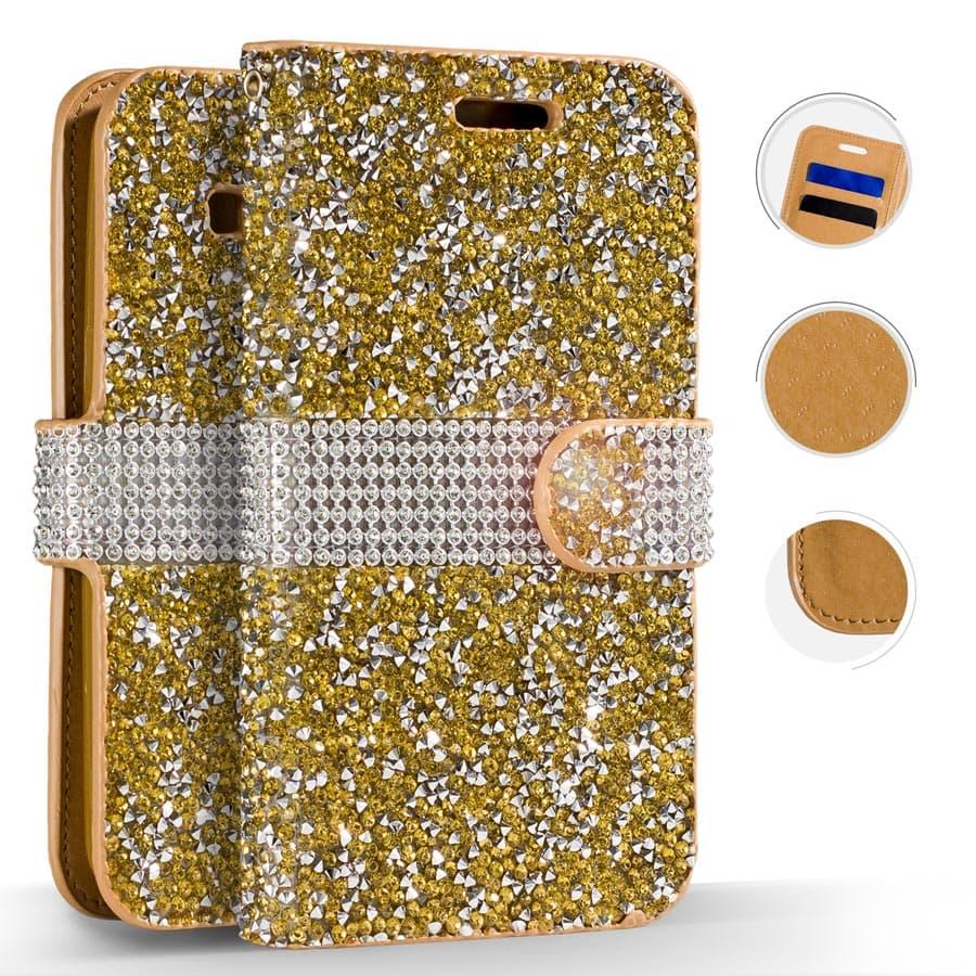 GOLD GALAXY J7 CASE FULL DIAMOND