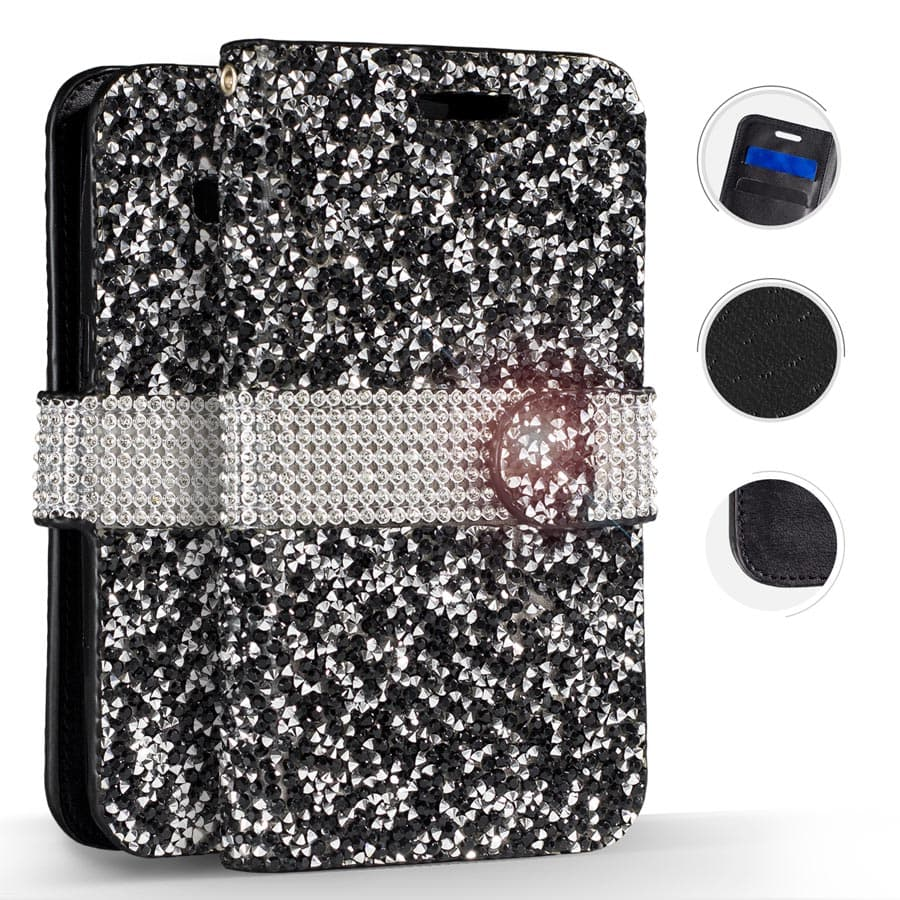DIAMOND BLACK WALLET CASE GALAXY S8