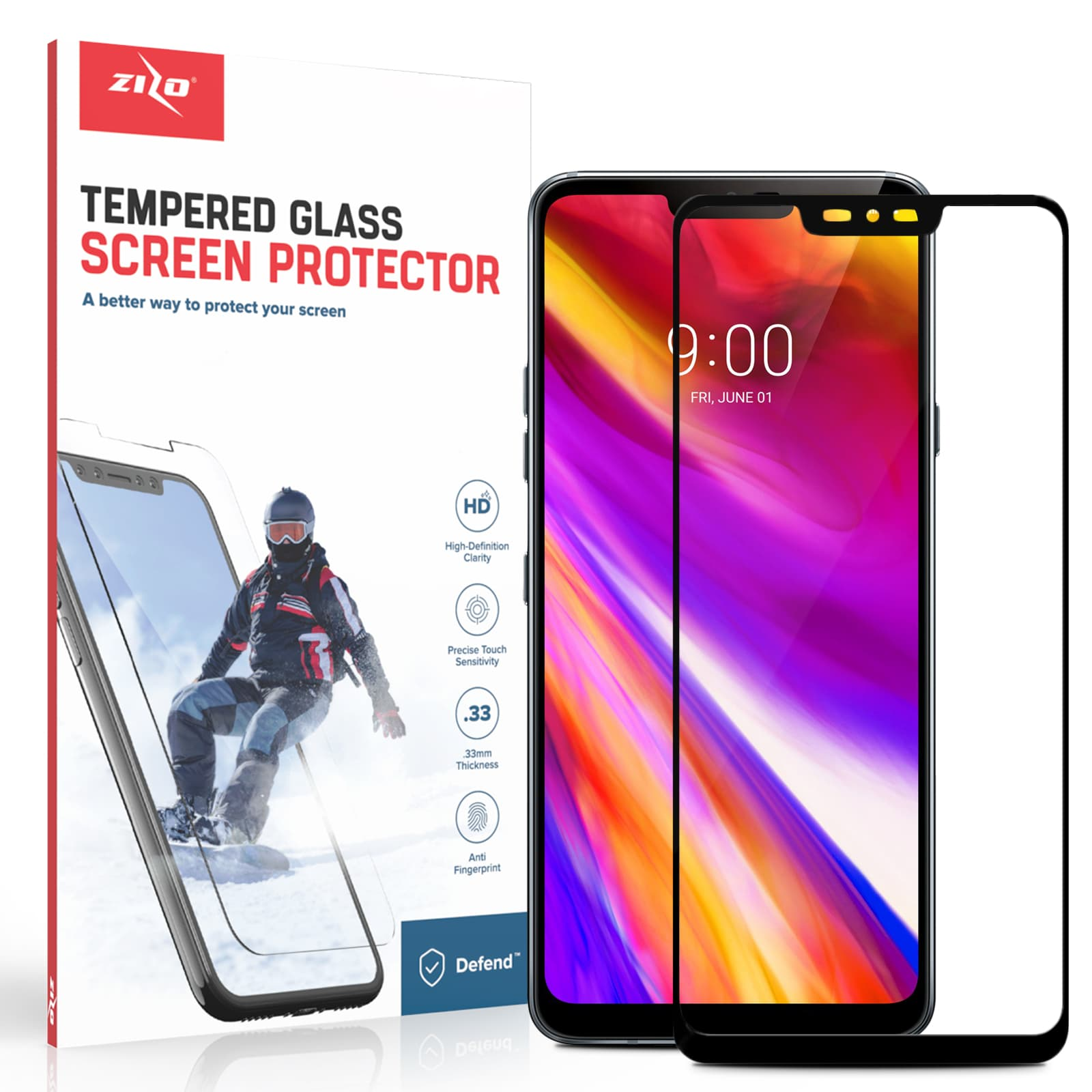 BLACK LG G7 THINQ FULL GLASS