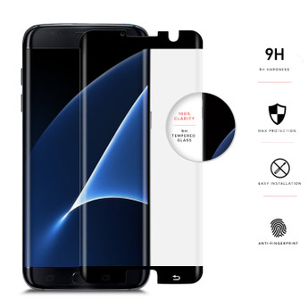 BLACK GALAXY S7 EDGE SCREEN PROTECT