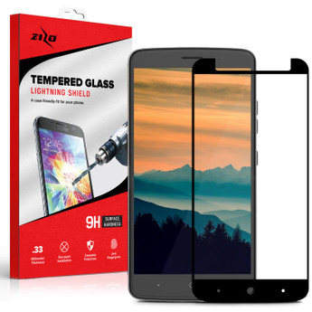 BLACK ZTE BLADE X MAX SCREEN GLASS