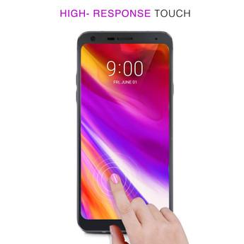 LG Q7 Plus Full Glue Curved Glass Screen Protector - Zizo