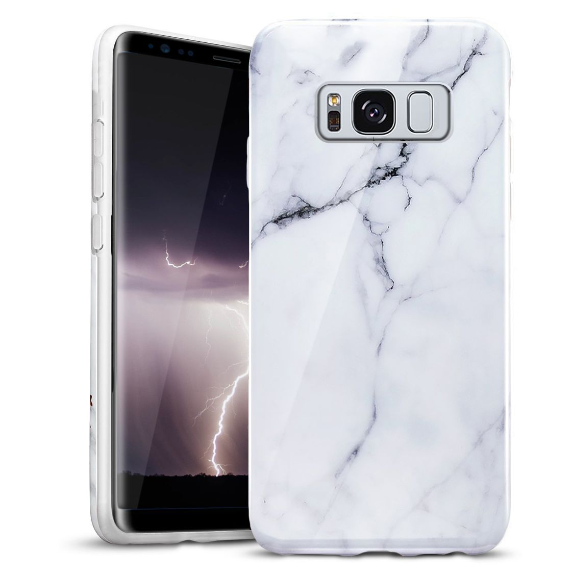 WHITE GALAXY S8 CASE