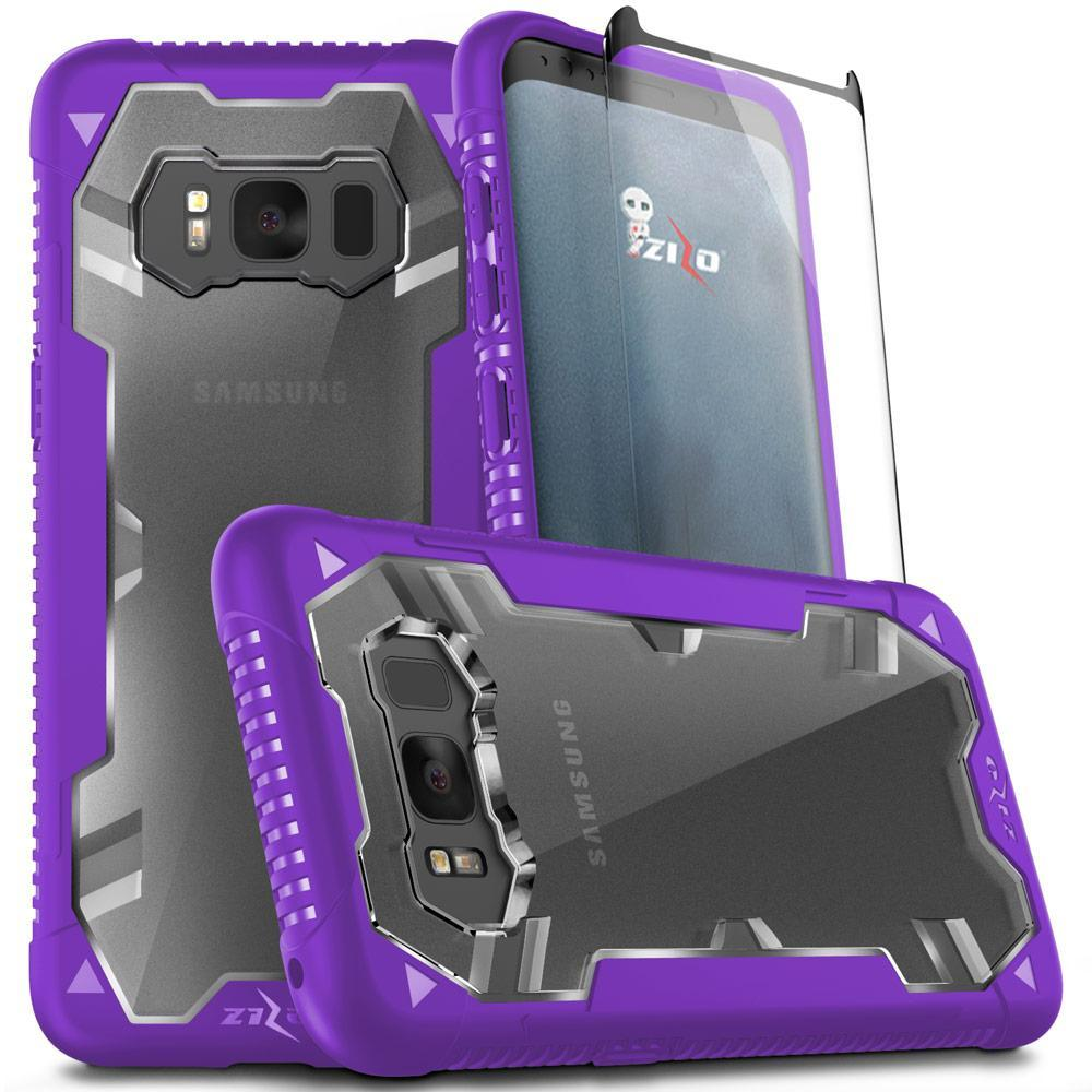 PURPLE GALAXY S8 CASE