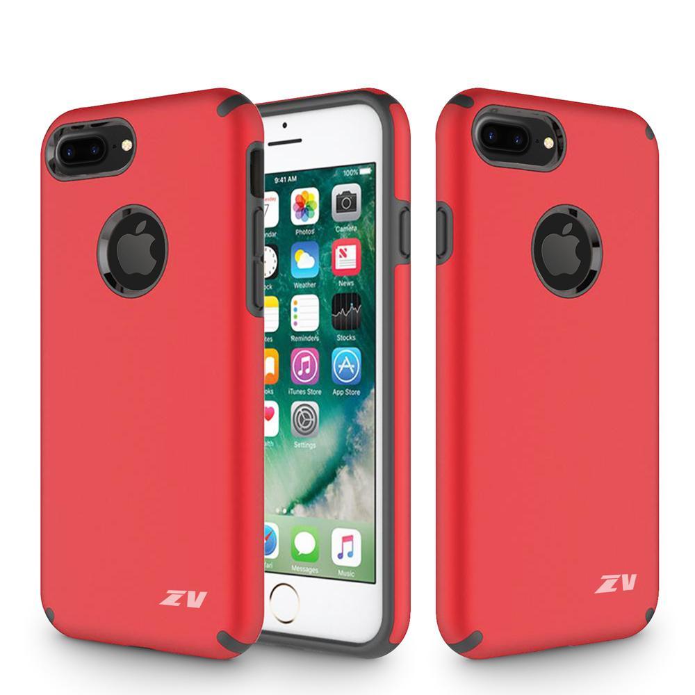 RED IPHONE 8 PLUS SLIM HYBRID CASE