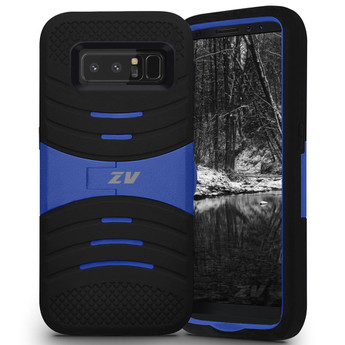 BLACK AND BLUE GALAXY NOTE 8 CASE