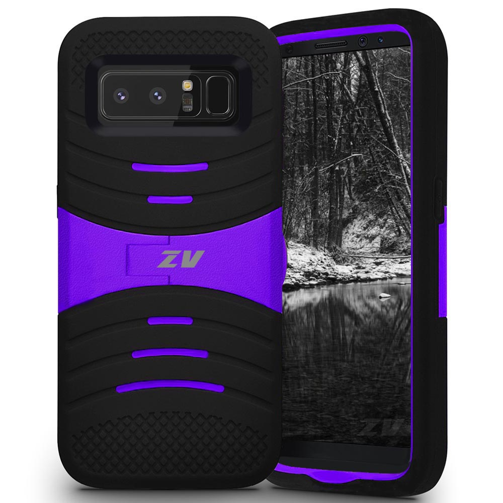 BLACK AND PURPLE GALAXY NOTE 8 CASE