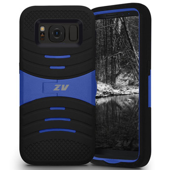 BLACK AND BLUE GALAXY S8 PLUS CASE