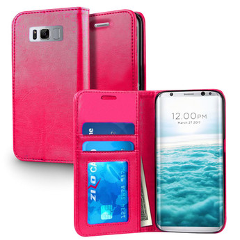 PINK LEATHER GALAXY S8 PLUS CASE