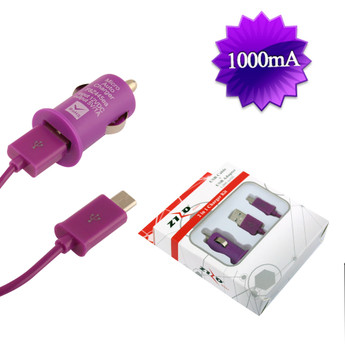 PURPLE UNIVERSAL CAR CHARGER KIT