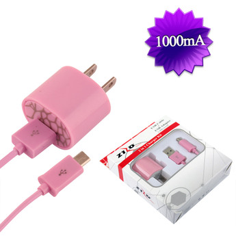 PINK UNIVERSAL TRAVEL CHARGER KIT