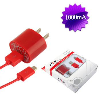 RED UNIVERSAL TRAVEL CHARGER KIT