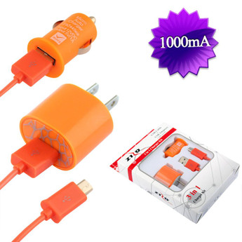 USB CAR/HOME CHARGER ORANGE