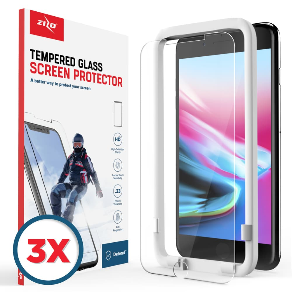 IPHONE 8/7 3-PACK SCREEN PROTECTOR