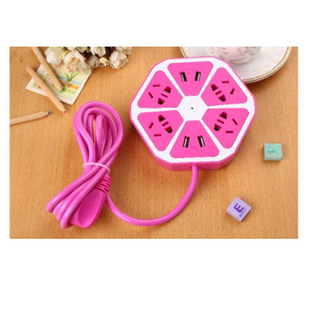 8IN1 UNIVERSAL PLUG 8 OUTLET PINK