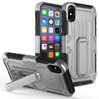 IPHONE X ARMOR HYBRID GRAY/BLACK