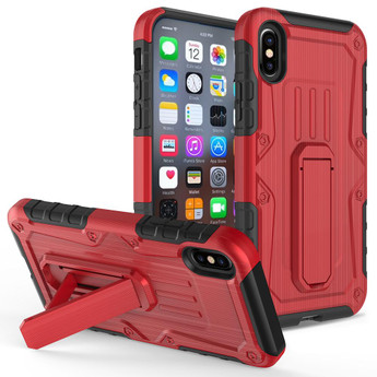 IPHONE X ARMOR HYBRID RED/BLACK