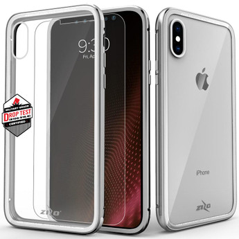 SILVER IPHONE X CASE