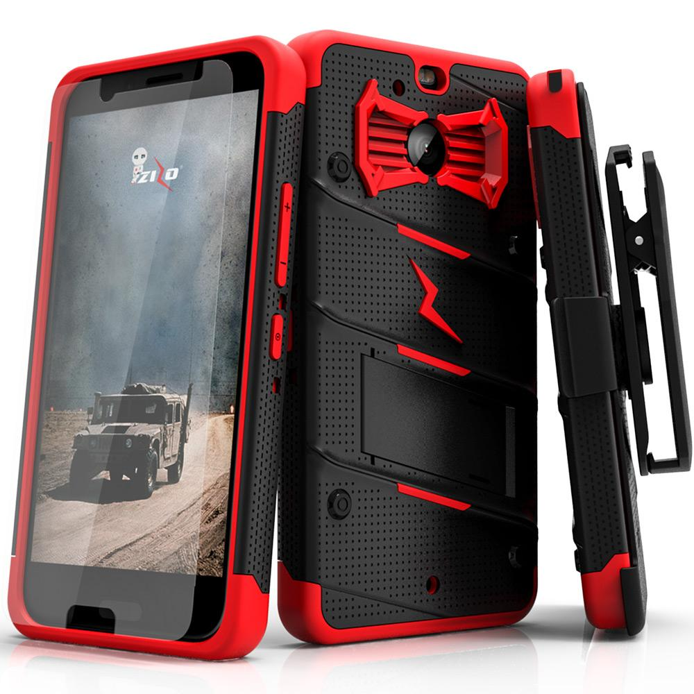 BLACK RED HTC BOLT CASE
