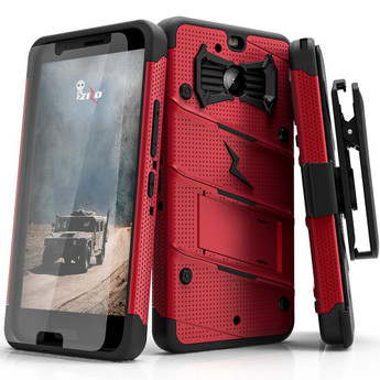 RED HTC BOLT CASE