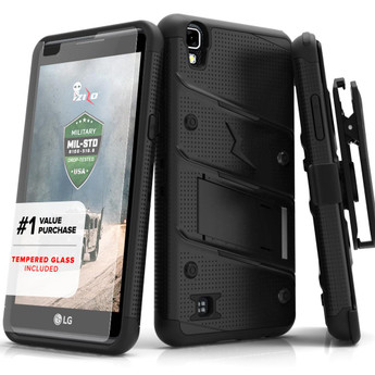 BLACK LG X POWER K210 CASE