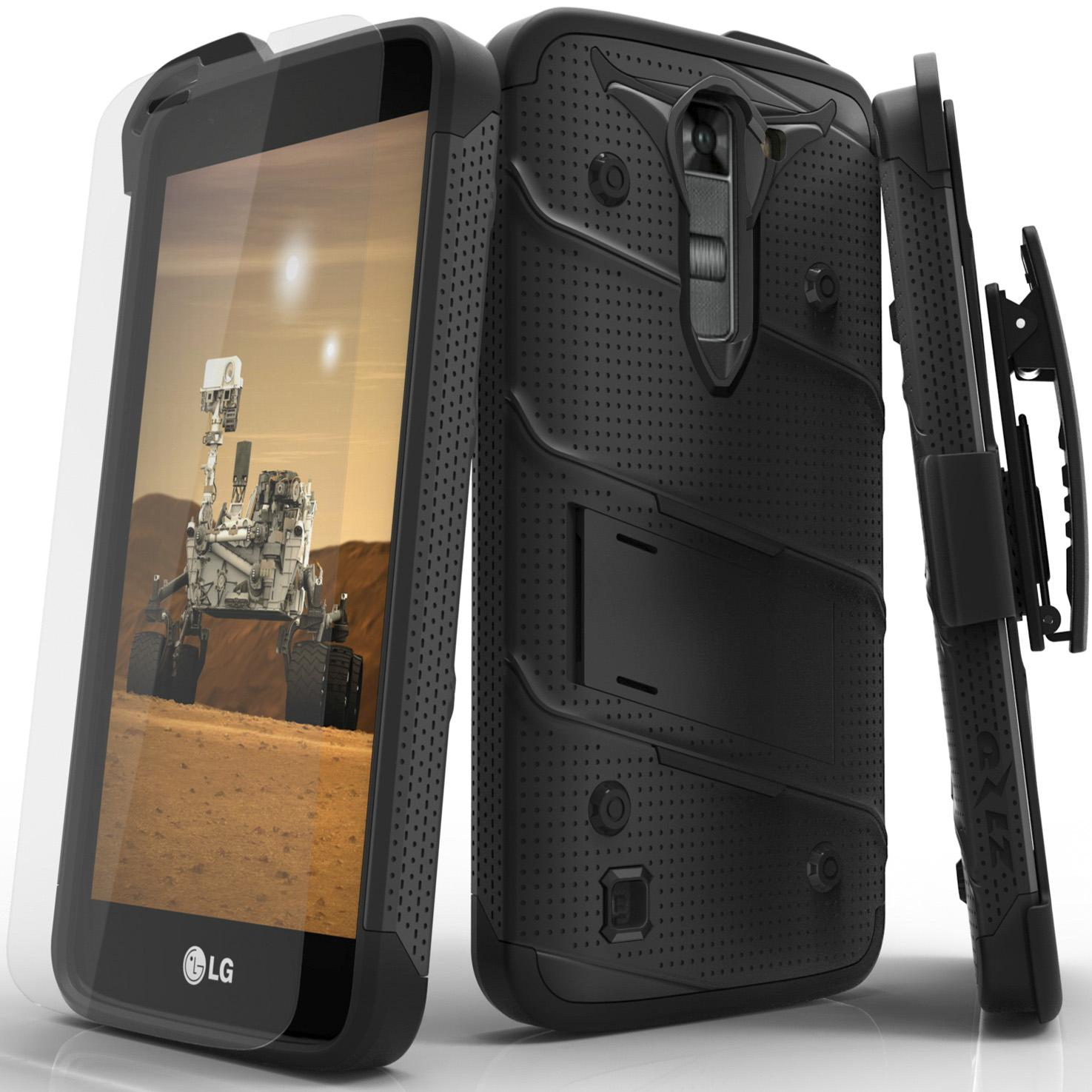 BLACK LG K7 BOLT CASE