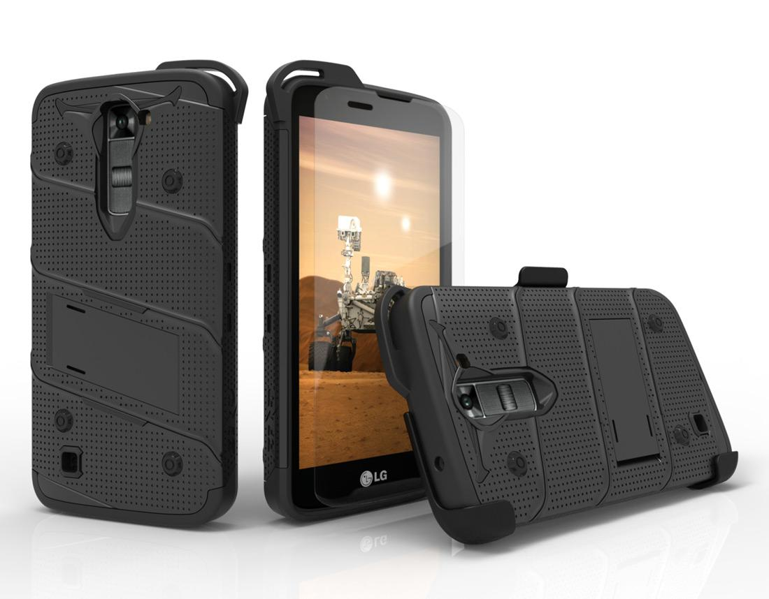 BLACK LG K7 HEAVY DUTY CASE