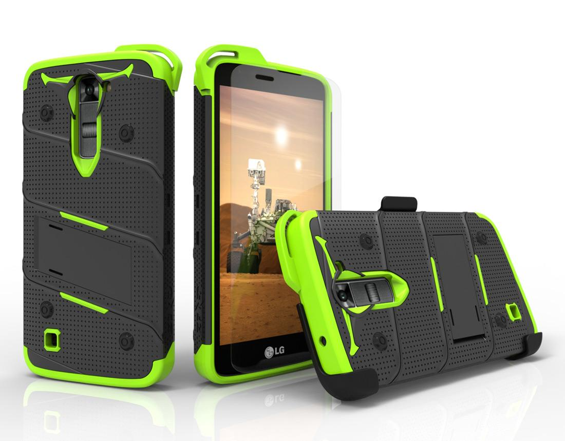 GREEN LG K7 HEAVY DUTY CASE