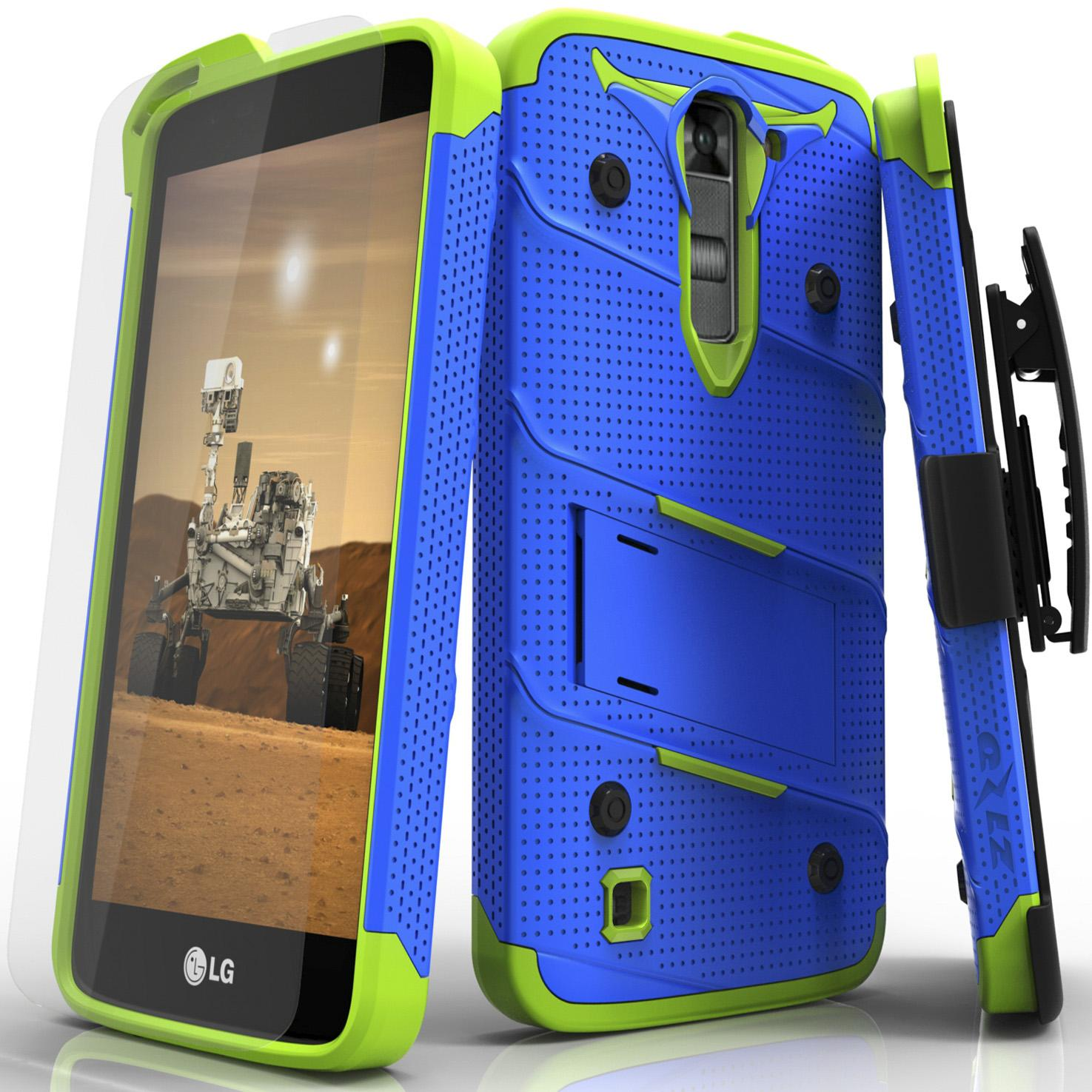 BLUE GREEN LG K7 BOLT CASE