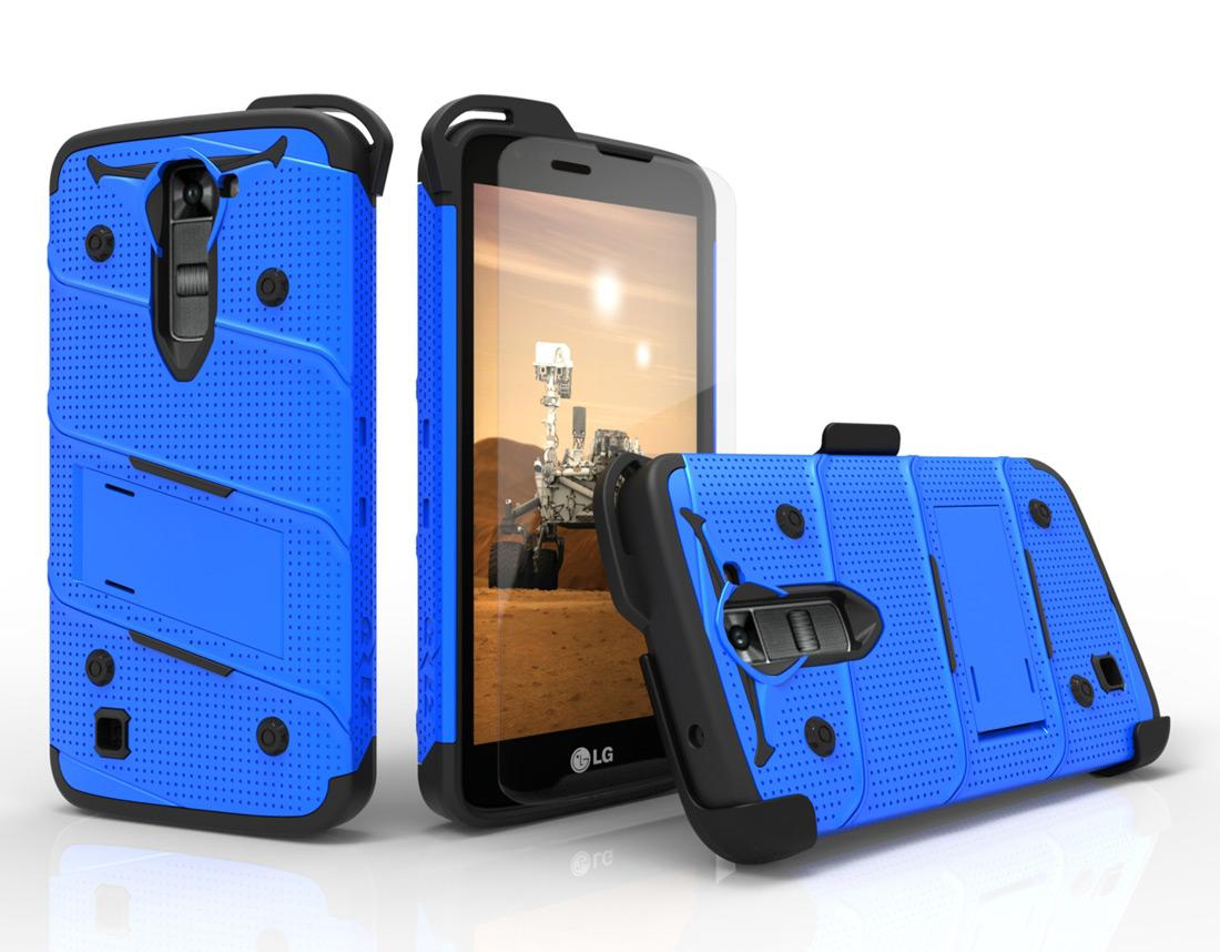 BLUE LG K7 HEAVY DUTY CASE