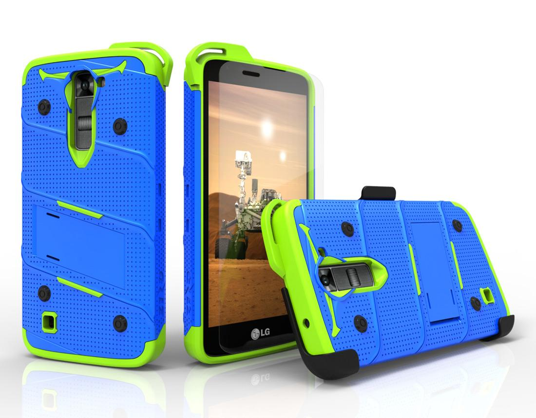 BLUE GREEN LG K7 HEAVY DUTY CASE