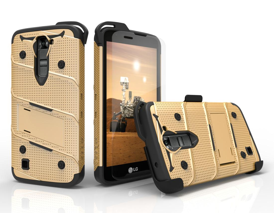 GOLD LG K7 HEAVY DUTY CASE