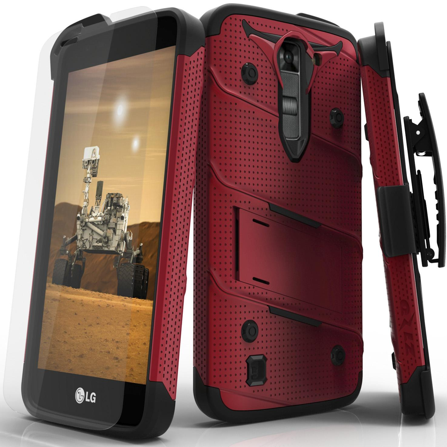 RED LG K7 BOLT CASE