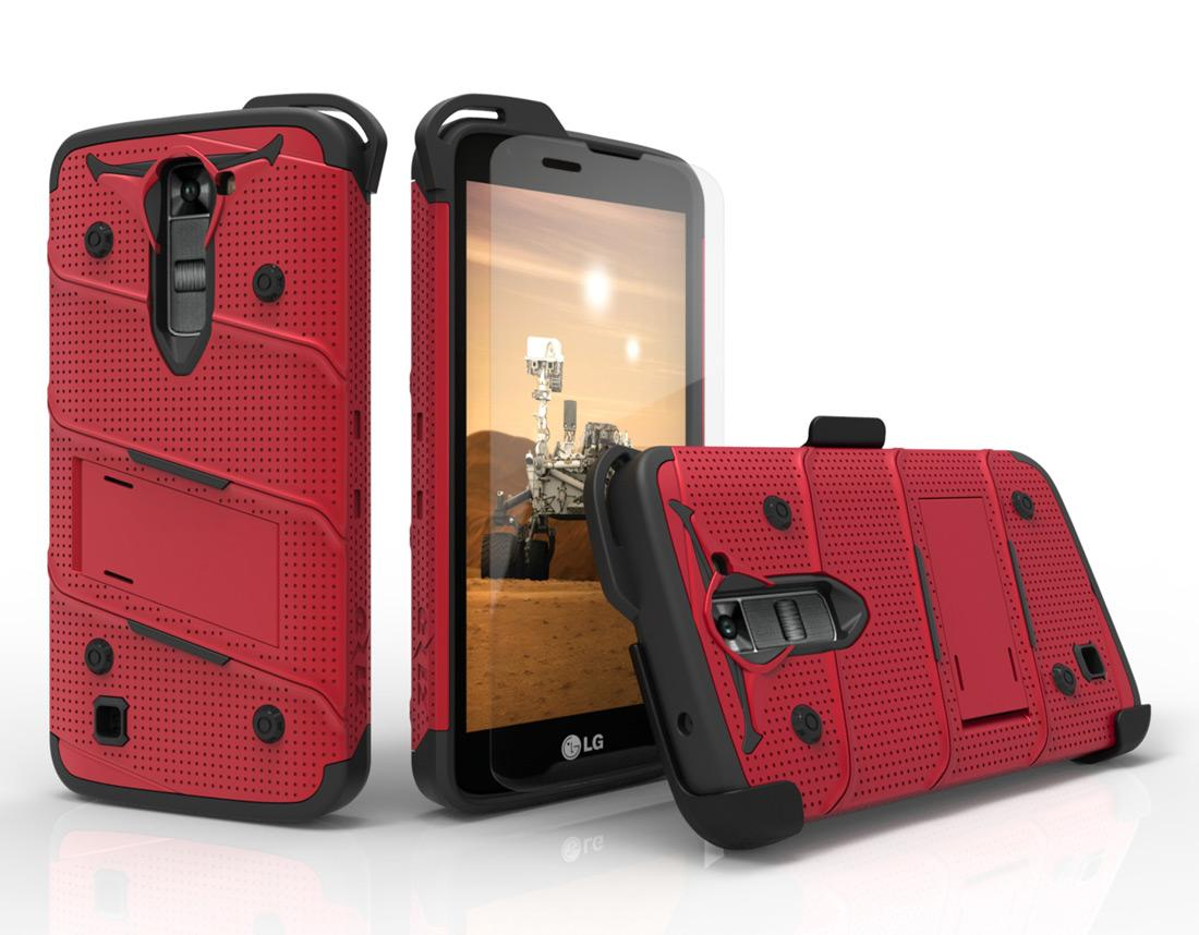 RED LG K7 HEAVY DUTY CASE