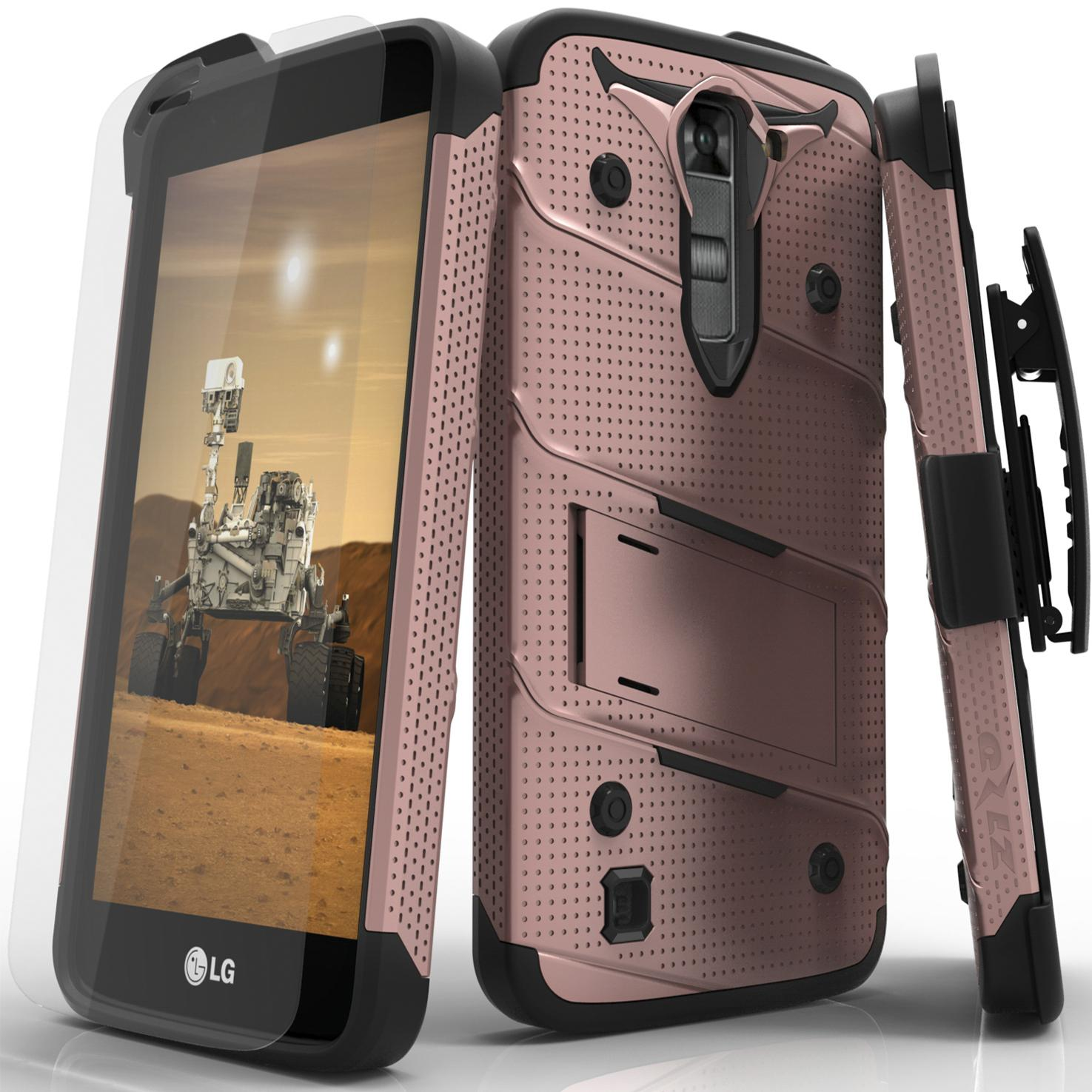 ROSE GOLD LG K7 BOLT CASE