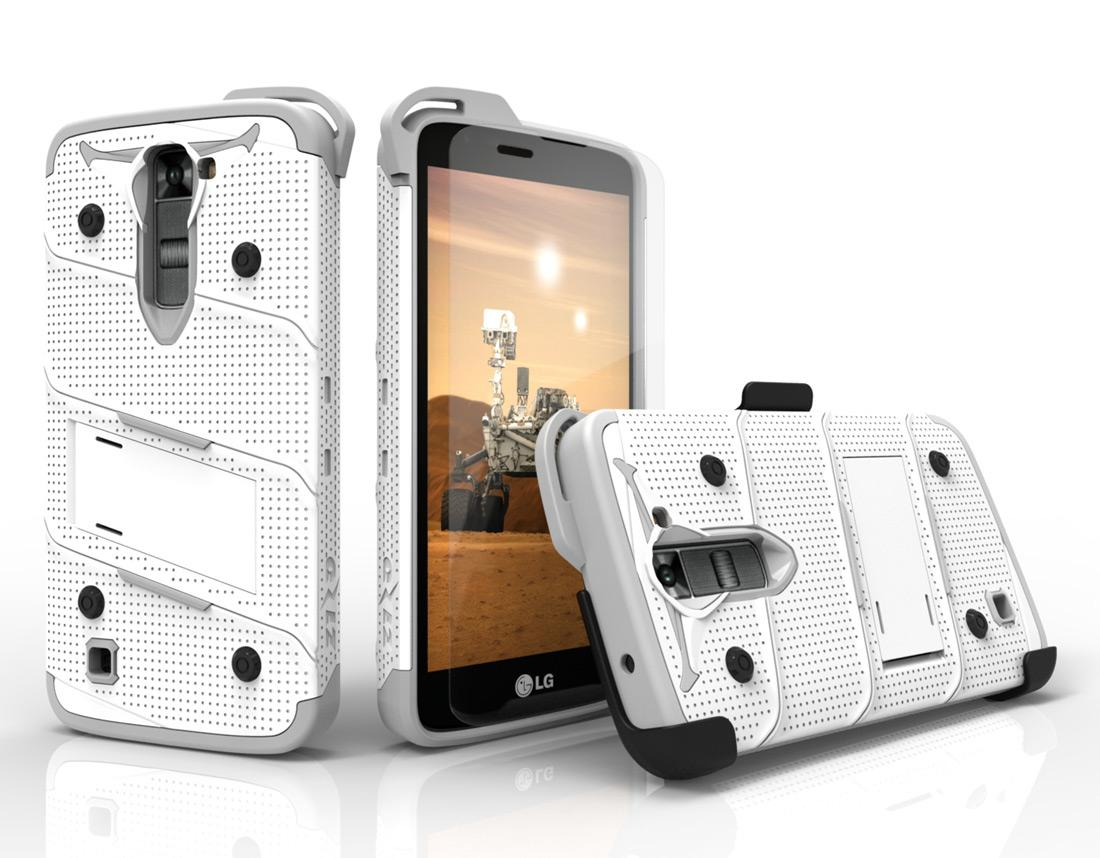 WHITE LG K7 HEAVY DUTY CASE