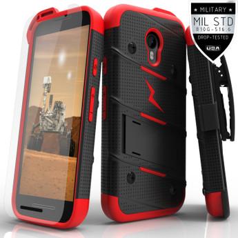 BLACK RED MOTO G 2015 CASE