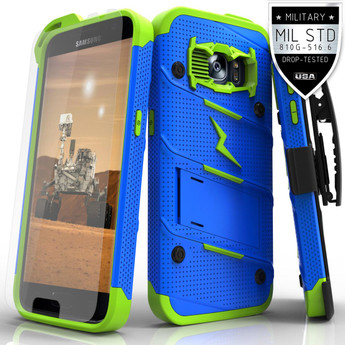 BLUE GREEN GALAXY S7 CASE