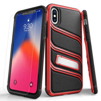 BLACK RED IPHONE X CASE