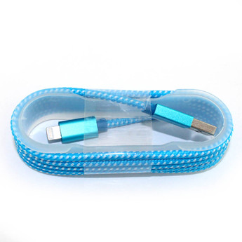 BLUE MICRO USB CABLE ROPE STYLE