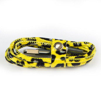 GREEN MICRO USB CABLE LEOPARD