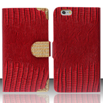 RED IPHONE 6 EXCLUSIVE WALLET CASE